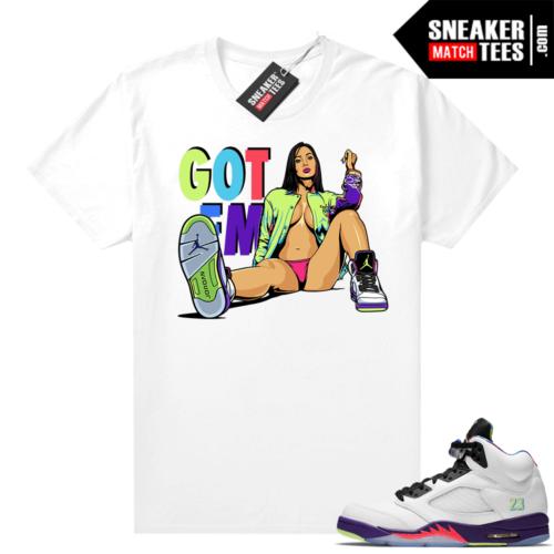 Jordan match shirts Bel Air 5s