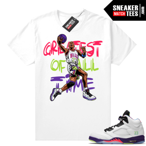 Bel Air 5s Alternate shirts White Greatest Of All Time V1
