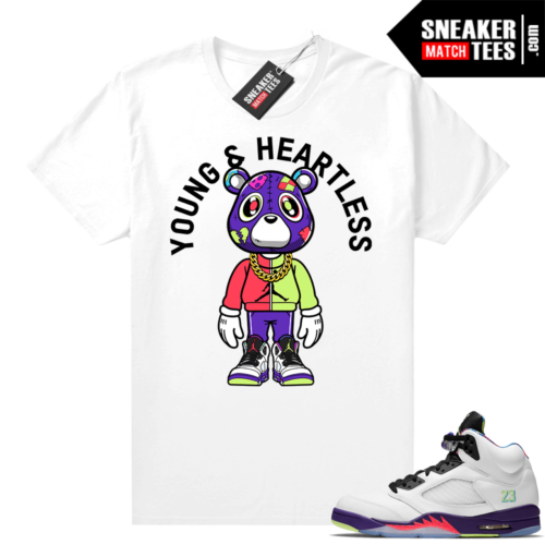 Bel Air 5s Alternate shirts White Heartless Bear Toon