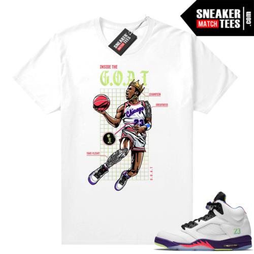 Sneaker tees matching Bel Air 5s