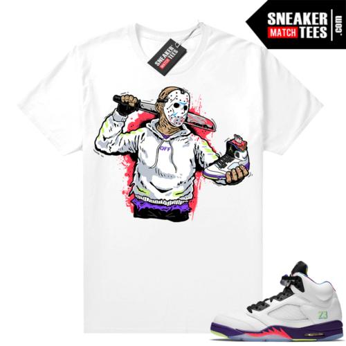 Bel Air 5s Alternate shirts White Jason