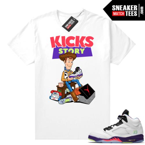 Bel Air 5s Alternate shirts White Kicks Story
