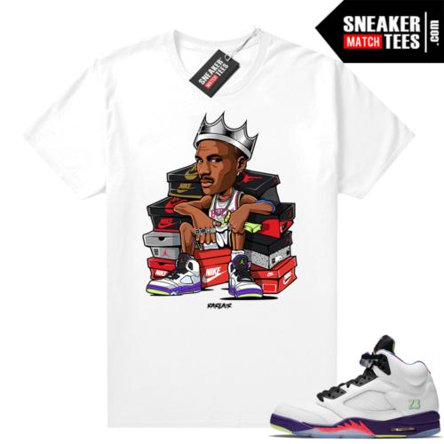 Bel Air 5s Alternate shirts White MJ King
