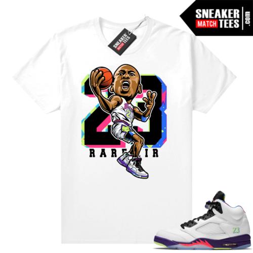 Bel Air 5s Alternate shirts White MJ Toon 23