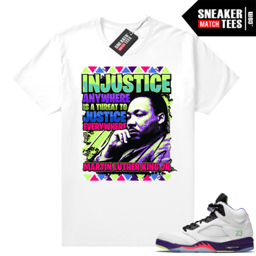Bel Air 5s Alternate shirts MLK Justice