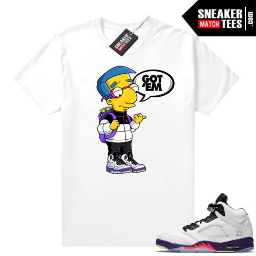 Alternate Bel Air 5s sneaker tees outfits