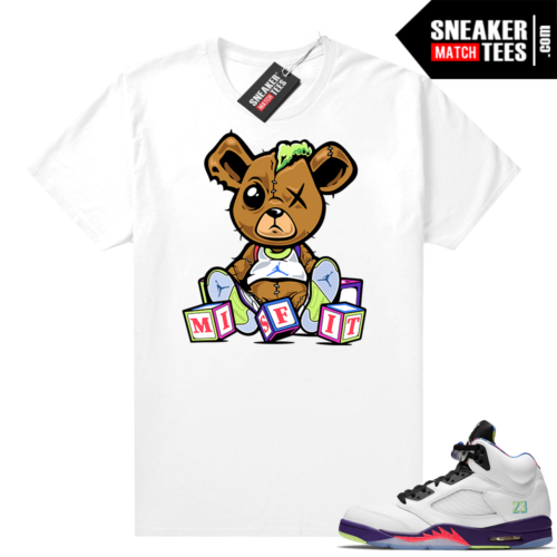 Bel-Air 5s Alternate shirts White Misfit Teddy