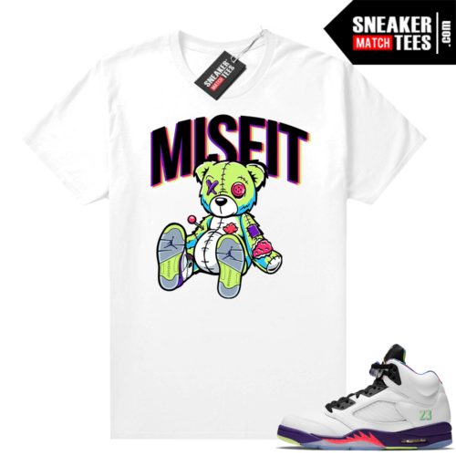Bel Air 5s Alternate shirts White Misift Bear
