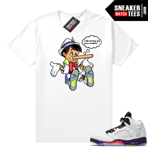 Bel Air 5s Alternate shirts White No More Sneakers