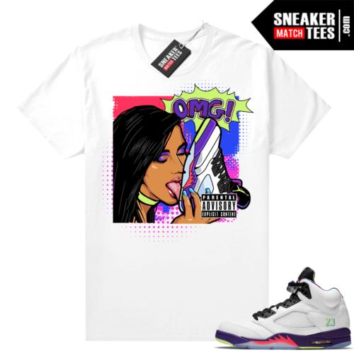 Bel Air 5s Alternate shirts White OMG Sneakers