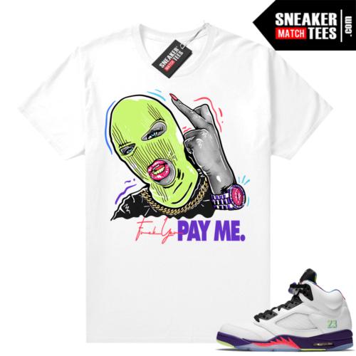 Ghost Green Jordan 5 shirts to match