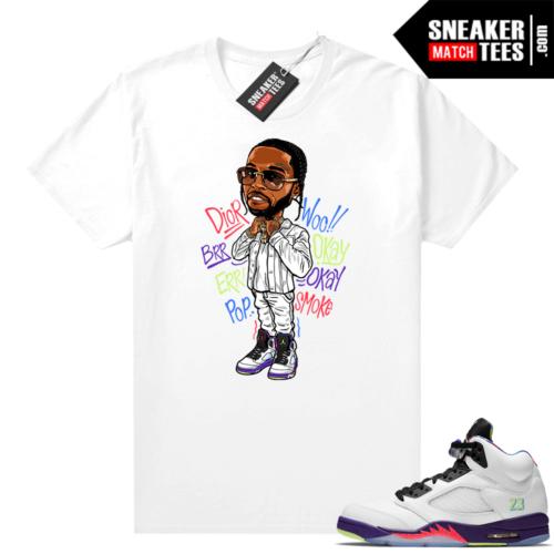 Bel Air 5s Alternate shirts White Pop Smoke Toon