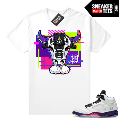 Bel Air 5s Alternate shirts White Retro Bull
