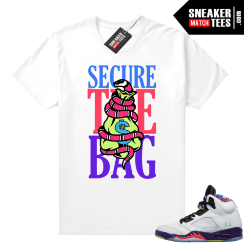 Bel Air 5s Alternate shirts White Secure the Bag