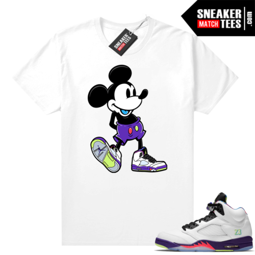 Bel Air 5s Alternate shirts White Sneakerhead Mickey