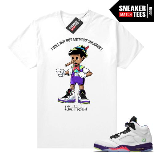 Bel Air 5s Alternate shirts White Sneakerhead Pinocchio