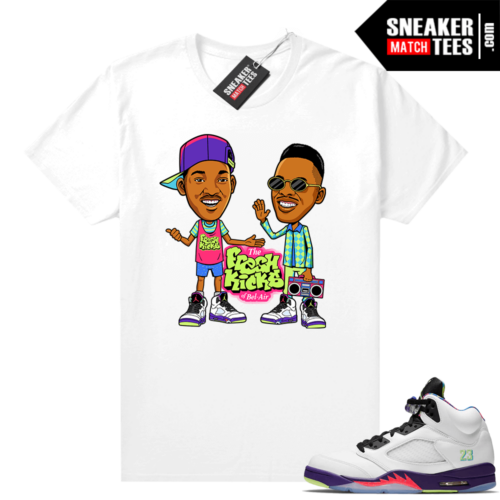 Bel Air 5s White Ghost green tees
