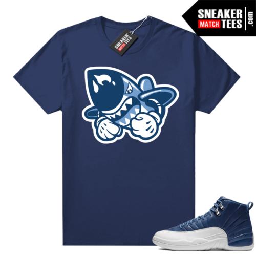 Jordan 12 Indigo sneaker match tees