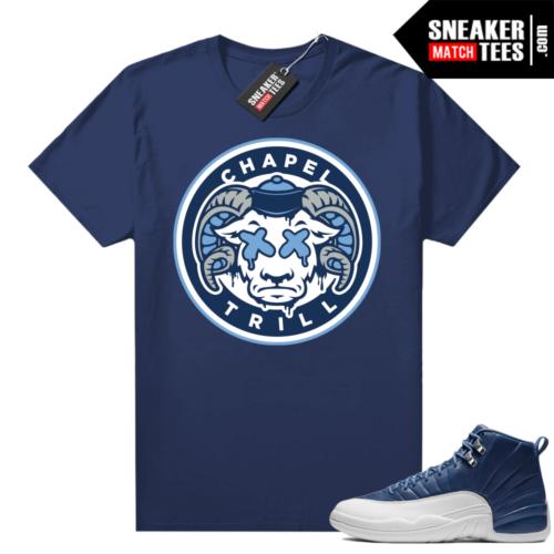 Match Indigo 12s sneaker shirts