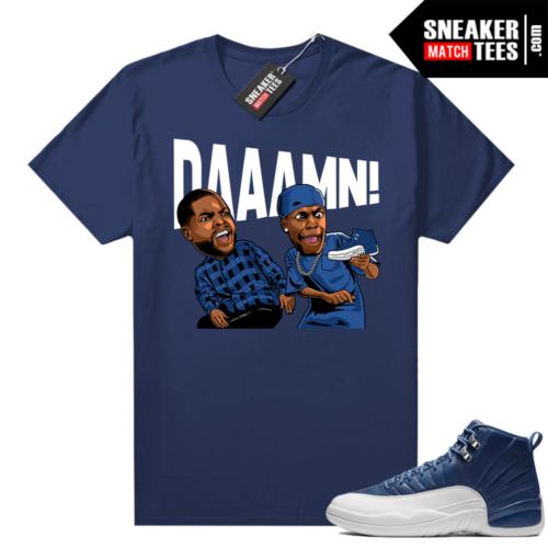 Jordan 12 Indigo matching sneaker tees
