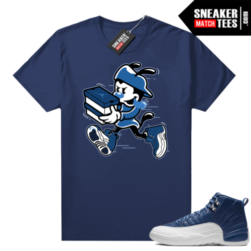 Air Jordan retro 12 Indigo graphic tees