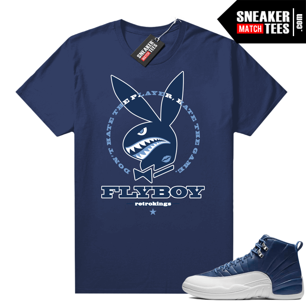 Jordan 12 Indigo matching graphic tees