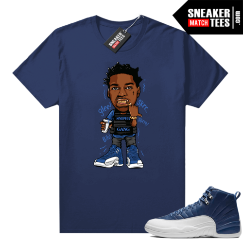 Jordan retro 12 Indigo sneaker shirt to match