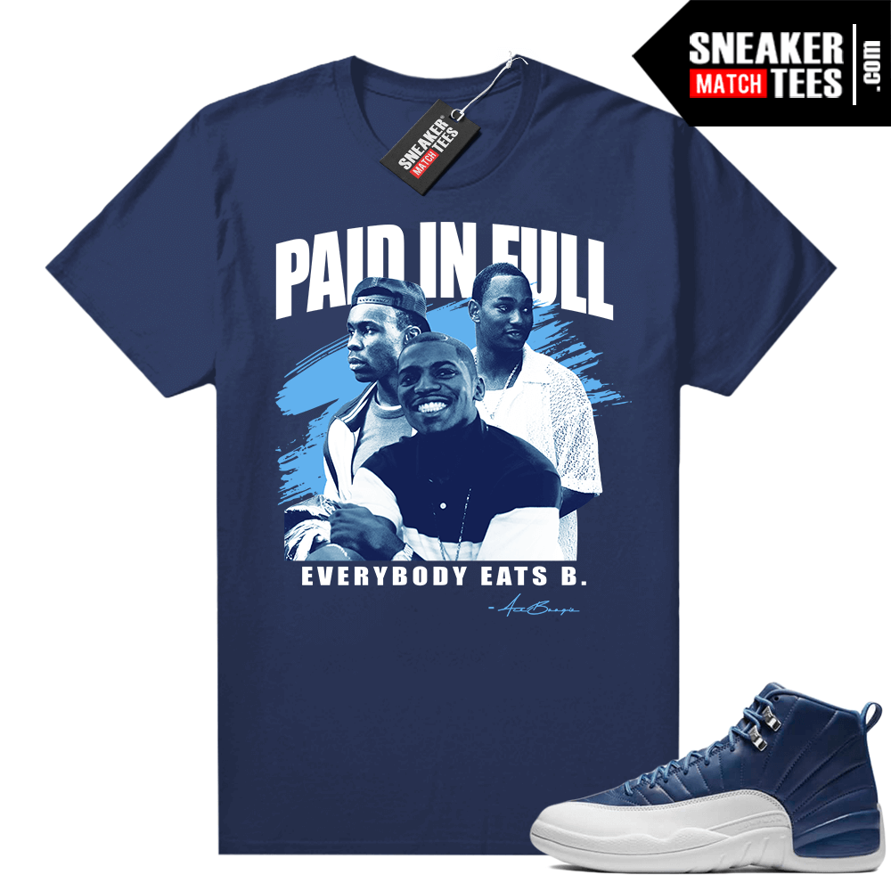 Jordan retro 12 Indigo matching graphic tees