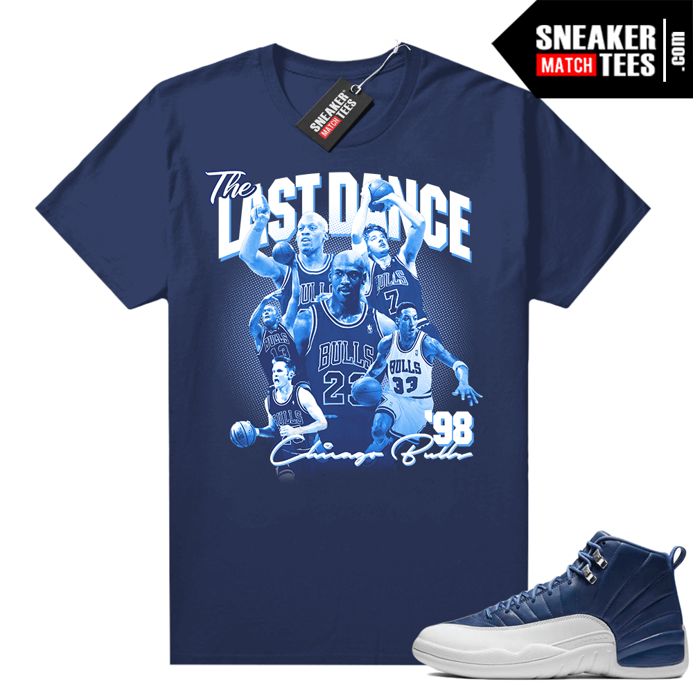 Jordan retro 12 Indigo matching graphic tee