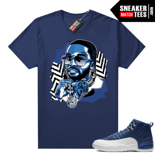 Jordan retro 12 Indigo matching sneaker tees