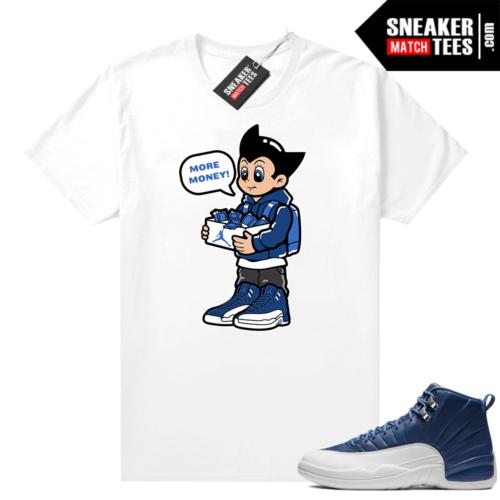 Indigo 12s sneaker tees White Astro Boy More Shoe Money