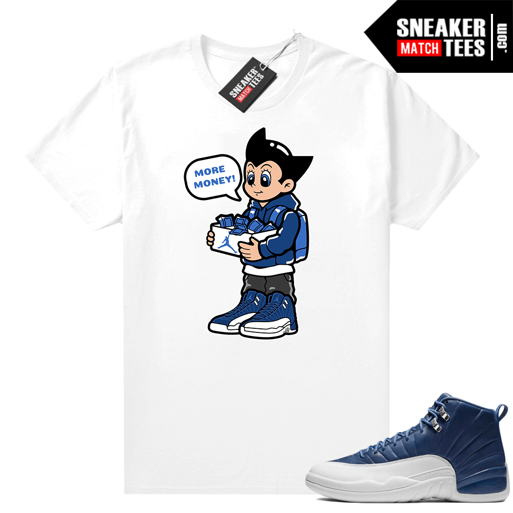 Indigo 12s sneaker tees White Astro Boy More Shoe Money
