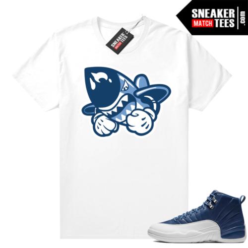 Indigo 12s sneaker shirts