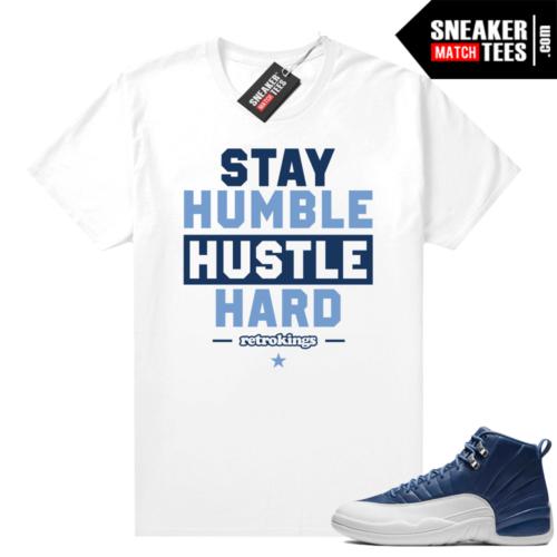 Jordan 12 Indigo Sneaker tees