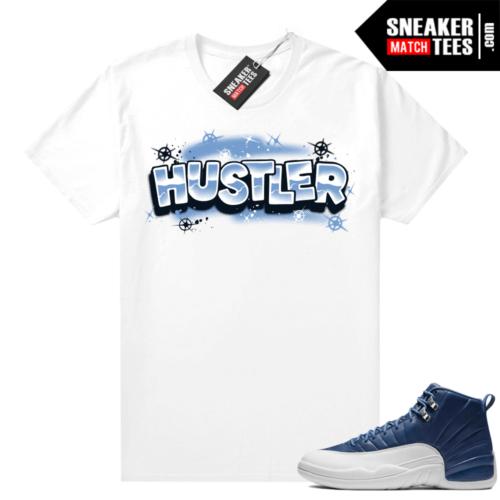 Jordan 12 Indigo Sneaker shirt