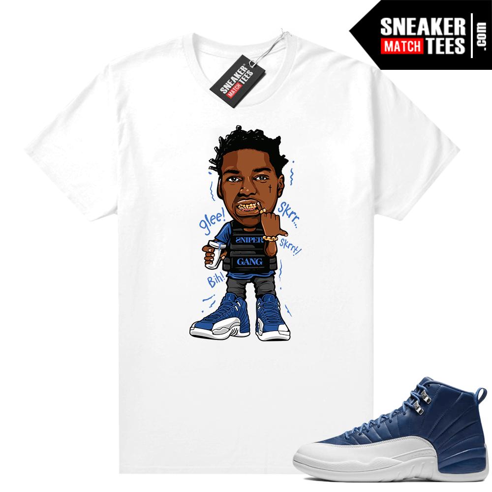 Indigo Jordan 12 shirts
