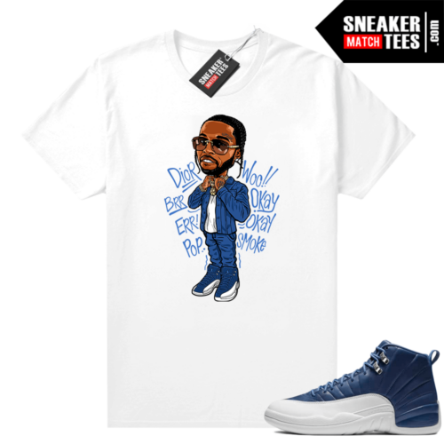 Sneaker Match Jordan 12 Indigo tees