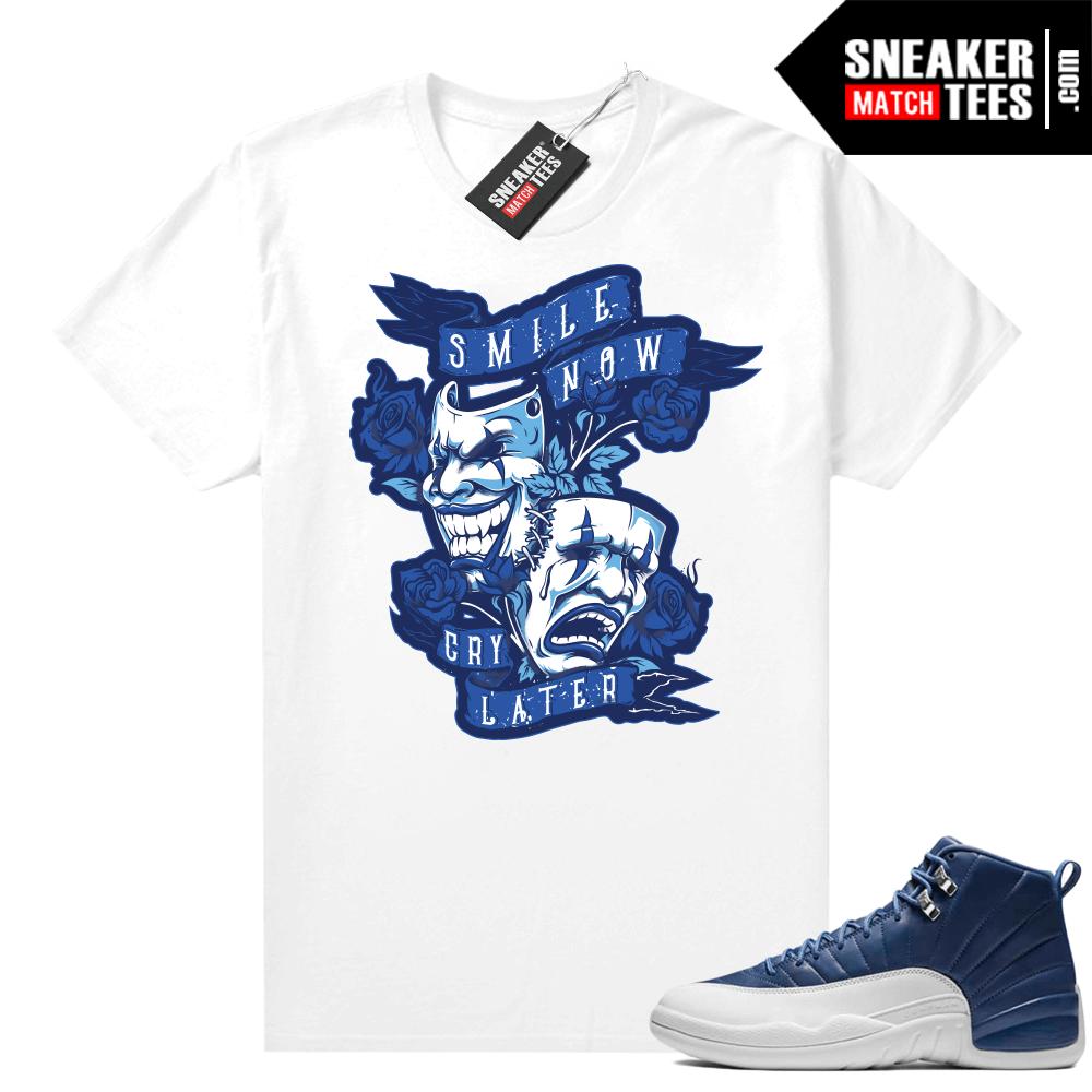 Jordan 12 shirts Indigo