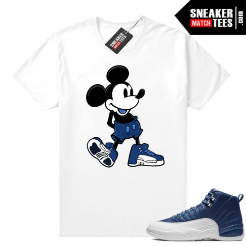 Air Jordan 12 sneaker tees Indigo