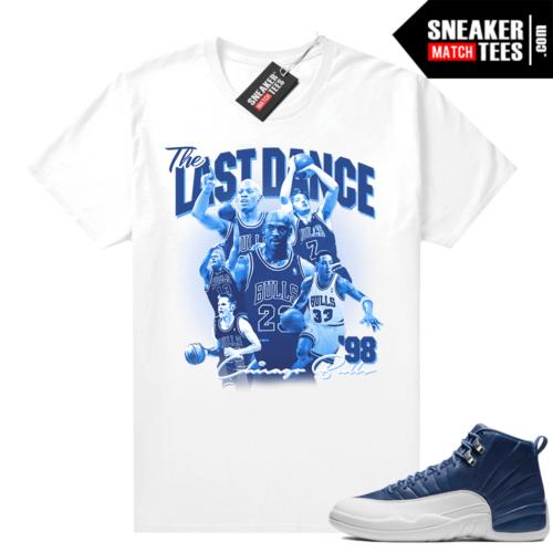 Jordan sneaker tees Indigo 12s