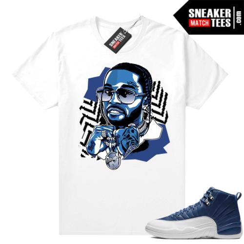 Jordan sneaker shirts Indigo 12s