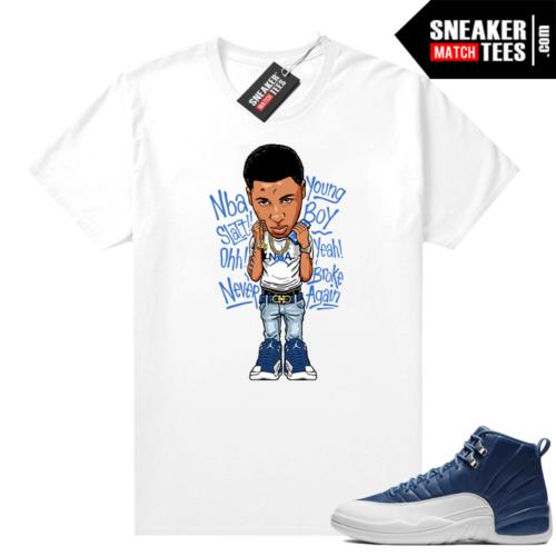 Sneaker shirts Jordan 12 Indigo