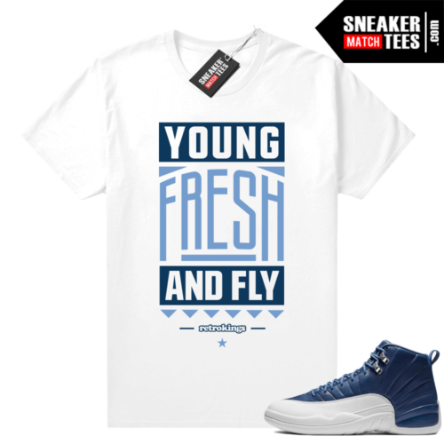 Sneaker shirts Indigo 12s