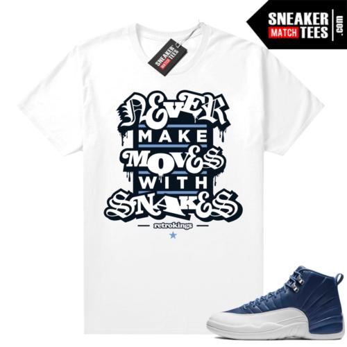 Jordan match sneaker tee Indigo 12s