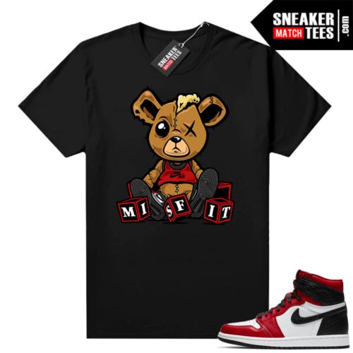 Jordan 1 Snakeskin shirts Black Misfit Teddy