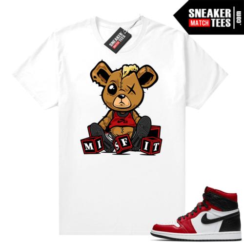 Jordan 1 Snakeskin shirts White Misfit Teddy