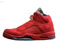 Jordan 5 Red Suede Sneaker tees