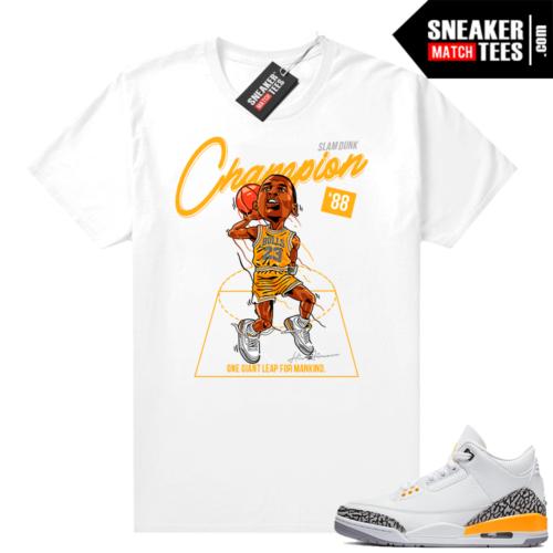 Jordan 3 shirts Laser Orange