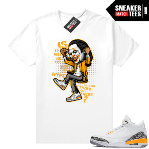 Air Jordan 3 sneaker tees Laser Orange