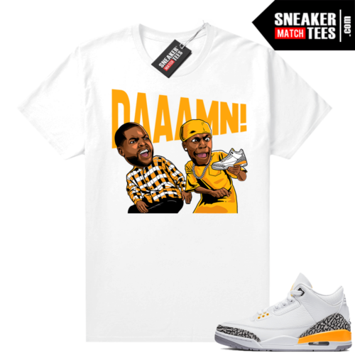 Laser Orange Jordan match tees